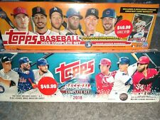 2018&2019 Topps Complete Factory Sealed Sets W/ Acuña, Torres, Tatis, Alonso...
