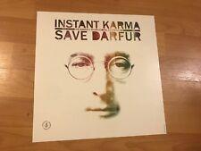 John Lennon Instant Karma Save Darfur Promo POSTER Beatles Amnesty International