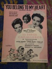 You Belong To My Heart Sheet Music The Three Caballeros Disney