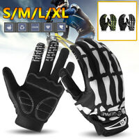 Cycling Motorcycle Racing Skeleton Goth Mechanics Skull Bone Full Finger  !! *