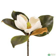 Artificial Fake Plants White Magnolia Short Stem 60cm (pack of 6)