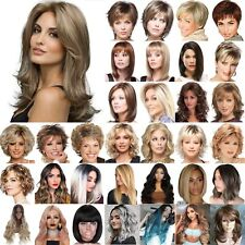 Ladies Short Long Wig Blonde Black Brown Wig Bob Pixie Boycut Wispy Fashion Wigs