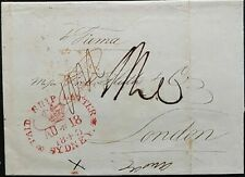 NSW Pre stamp ship letter Sydney Au 18 1843 to London  12 Mr 1844
