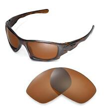 New Walleva Polarized Black Replacment Lenses For Oakley Ten Sunglasses