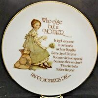 Holly Hobbie Happy Mother's Day Plate Commemorative Edition Porcelain 1976