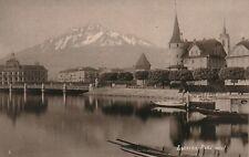 SCHROEDER LUCERNE LUZERN SUISSE 1890 CABINET 15 X 10 cm SCHWEIZ SWITZERLAND