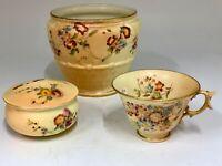 Three Items Antique Royal Worcester Porcelain circa 1905 - 9