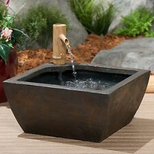 "Aquascape 78197 Patio Pond Kit w/Bamboo Fountain 16"" square-water feature"