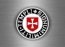 Sticker car biker maltese shield airsoft decal crusader cross templar knights I2