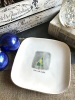 "New Rae Dunn Artisan Farmhouse  Peace on Earth Salad Appetizer 8"" Gold Rim Plate"