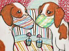 dog art English Foxhound print 11x14 gift modern by Ksams Quarantine Collectible