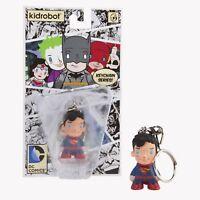Superman Vinyl Figure Kid Robot DC Universe Keychain NEW MOC