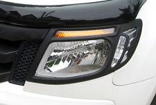 MATT BLACK HEAD LIGHT LAMP TRIM FOR FORD RANGER PX XL XLT WILDTRACK 2012 2013 14