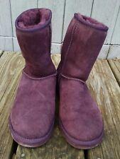 UGG Australia Womens Boots Size 7 in Rare Purple Suede EUC Classic Short Style