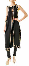 Free People Women's Authentic Embroidered Maxi Vest Black Size XS RRP £153 BCF66