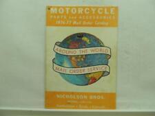 1976-1977 Motorcycle Parts & Accessories Mail Order Catalog Triumph Norton B960