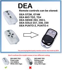 DEA MIO TD2, MIO TD4  Universal Remote Control Duplicator 4-Channel 433.92MHz.