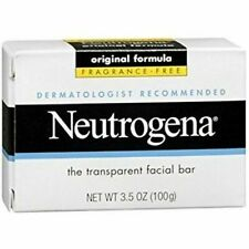 Neutrogena Transparent Facial Bar Soap Fragrance Free 3.5 oz Neutrogena Sealed