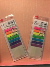 Skinny Page Flags Sticky Notes 160 Sheets Page Maker 7 Colors And Clear Daiso