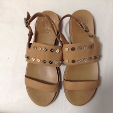 66e7e7f4328 VINCE GAMUTO Leather Studded Sandals Size 8M 39