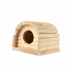 Wood House Cage Nesting Habitat Small Nest For Pet Hamster Mouse Guinea Pig