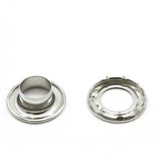 """Grommets, #5 Stainless Steel, Heavy Duty Rolled Rim Spur, 5/8"""" Inch Hole"""