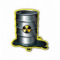 Caution Toxic Barrel Radioactive Sign Sticker