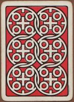 Playing Cards 1 Single Card Old Antique Goodall Wide Geometric OXO Advertising
