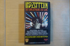 1980s' New Old Stock Sealed VHS Music Video - Led Zepplin In Concert And Beyond