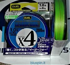NEW DUEL HARDCORE X4 ULTRA PE LINE 200m 1.0 - 18LB COLOR: GREEN MADE IN JAPAN