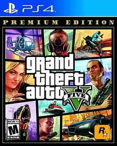 Grand Theft Auto V Premium Edition GTA 5 PS4 PlayStation 4
