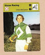 Chris McCarron 1978 Sportscaster 4.75 x 6.25 inch horse racing card #2506