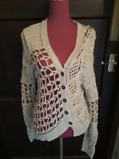 Stunning All Saints Summer Court Cardigan Beige Size 10 Excellent Condition