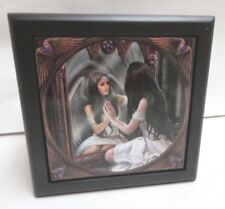 "Anne Stokes Fantasy Art Tile Wooden Box ""Magic Window"" NWT"