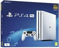 Sony Play Station PS4 Pro 1 TB Glacier White Console Limited Edition, New Sealed