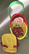 Playskool Plush 1997 My Little Ladybug Doll w/ 1979 Buggy Carriage Stroller Vtg