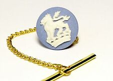 Genuine Wedgwood White Lion On  Crown Cameo On Gold Plated Tie Tack/Scatter Pin