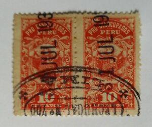 PERU Chile propaganda revenue tax stamp PRO DESOCUPADOS pro unoccupied 1930s