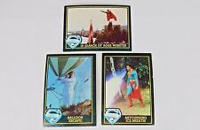 Lot of 3 Superman III Trading Cards ~ Topps 1983, Not Graded, Good Condition