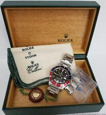 Stunning Rolex GMT Master 16750 Steel Mens Pepsi Bezel Watch w Box
