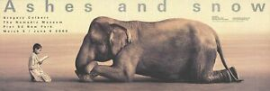 GREGORY COLBERT Boy Reading to Elephant 13.25 x 38.75 Offset Lithograph 2005 Pho
