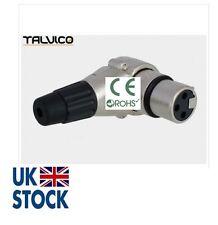 3-Pin XLR Female Mic Microphone Audio Cable Plug Connectors Right Angle TALVICO