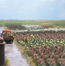 OO/HO Garden Scenery kit: 120 roses (5 colors plants) - Busch 1205 free post F1