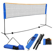 Adjustable Height Sport 10' x 5' Badminton Volleyball Tennis Net Train Portable