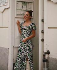 H&M Trend patterned Black Green Floral  dress 12 UK