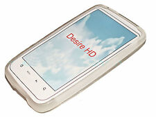 Silikon TPU Handy Cover Case Hülle Schale Schutzhülle in Foggy für HTC Desire HD