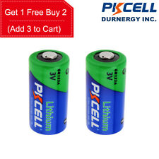 2X CR123A Battery CR17345 DL123A PL123A EL123A 3V Li-MnO2 CR123 Batteries PKCELL