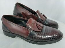 Stanley Blacker Mens Oxford Moc Loafer Slip on Shoes size 11 M made in Italy