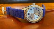 Women's 38mm Passages watch, Silver Tone with Blue Poly Band