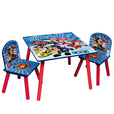 Paw Patrol Wooden Table And Chairs Indoor Childrens Kids Playroom Furniture Set